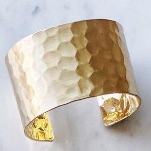 Panacea BNWT Textured Gold Cuff Bracelet.